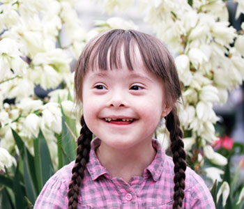 A young girl with down syndrome-SL Hunter Speechworks
